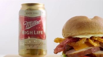 Arby's Beer Can Chicken Sandwich TV Spot, 'Miller Beer' - Thumbnail 5