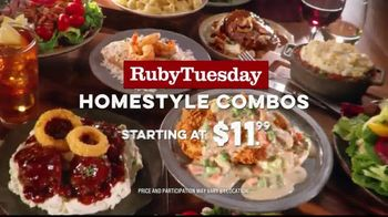 Ruby Tuesday Homestyle Combos TV Spot, 'Starting at Just $11.99' - Thumbnail 10