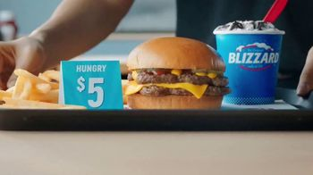Dairy Queen Hungry Up Deal TV Spot, 'Burger, Fries and Mini Blizzard'