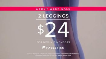 Fabletics.com Cyber Week Sale TV Spot, 'Leggings and Bras Designed to Perform'