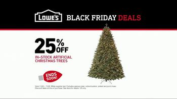 Lowe's Black Friday Deals TV Spot, 'Peace on Earth: 25 Percent Off Trees' - Thumbnail 8