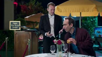 Sonic Drive-In Steakhouse Bacon Cheeseburger TV Spot, 'Tablecloth' - 2355 commercial airings