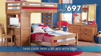 Rooms to Go Kids and Teens Summer Sale and Clearance TV Spot, 'Beds' - Thumbnail 4
