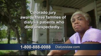 Dialysis Law TV Spot, 'Unexpectedly' - Thumbnail 1