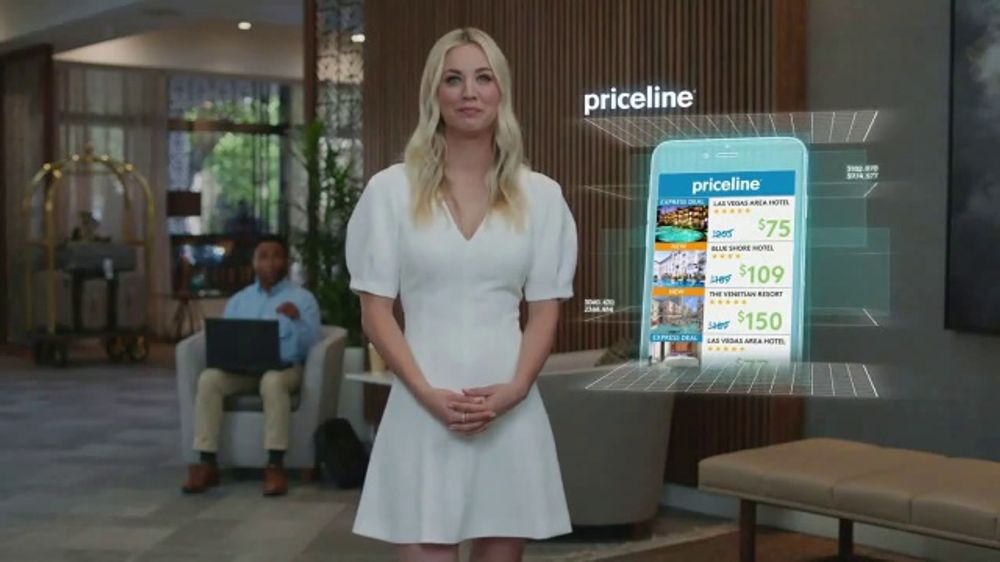 Priceline.com TV Commercial, 'Laptop' Featuring Kaley Cuoco