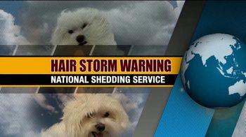 True Touch Deshedding Glove TV Spot, 'Winter Hair Storm Warning' - Thumbnail 1