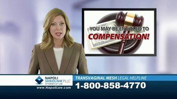 Napoli Shkolnik PLLC TV Spot, 'Transvaginal Mesh Legal Helpline' - Thumbnail 2