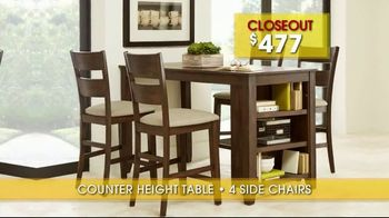 Rooms to Go Summer Sale and Clearance TV Spot, 'Dining Sets' - Thumbnail 6