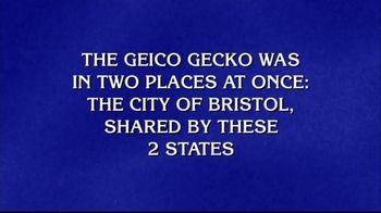 GEICO TV Spot, 'Jeopardy!: Two Places at Once'
