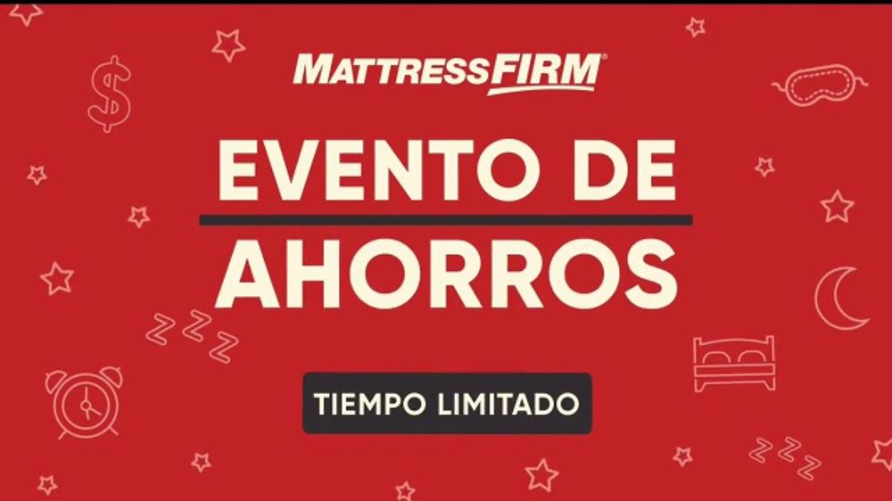 Mattress Firm Evento de Ahorros TV Commercial, 'Tiempo limitado'