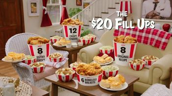 KFC $20 Fill Ups TV Spot, \'Feed a Family of Four\'