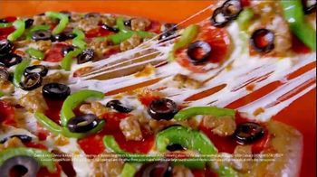 Little Caesars EXTRAMOSTBESTEST Pizza TV Spot, 'Outrageously Topped' - Thumbnail 6