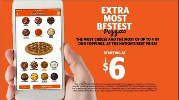 Little Caesars EXTRAMOSTBESTEST Pizza TV Spot, 'Outrageously Topped' - Thumbnail 8