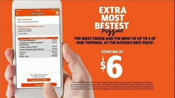 Little Caesars EXTRAMOSTBESTEST Pizza TV Spot, 'Outrageously Topped' - Thumbnail 9