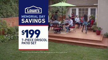 Lowe's Memorial Day Savings TV Spot, 'The Moment: Good Backyard: Patio Set' - Thumbnail 10