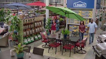Lowe's Memorial Day Savings TV Spot, 'The Moment: Good Backyard: Patio Set' - Thumbnail 6