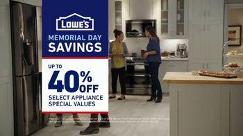 Lowe's Memorial Day Savings TV Spot, 'The Moment: Not Enough Fridge' - Thumbnail 10