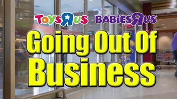 Toys R Us Going Out of Business Liquidation TV Spot, 'Everything Must Go'