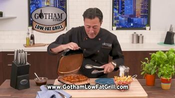 Gotham Steel Low-Fat Grill TV Spot, 'New Indoor Grill'