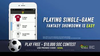 DraftKings TV Spot, '$10,000 Fantasy Soccer Contest' - Thumbnail 6