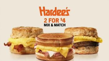 Hardee's 2 for $4 Mix & Match TV Spot, 'Breakfast Favorites' - Thumbnail 1
