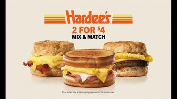 Hardee's 2 for $4 Mix & Match TV Spot, 'Breakfast Favorites' - Thumbnail 7