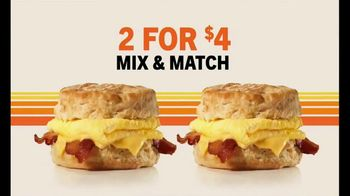 Hardee's 2 for $4 Mix & Match TV Spot, 'Breakfast Favorites' - Thumbnail 6