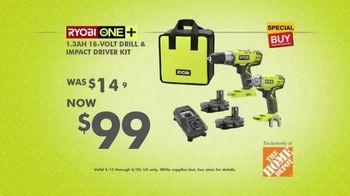 The Home Depot Ryobi Days TV Spot, 'Over 100 Tools: Drill & Impact Kit' - Thumbnail 10