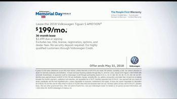 Volkswagen Memorial Day Deals TV Spot, 'More Room: 2018 Volkswagen Tiguan' [T2] - Thumbnail 5