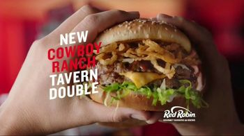 Red Robin Cowboy Ranch Tavern Double TV Spot, 'Let's Burger'
