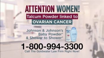 Goldwater Law Firm TV Spot, 'Talcum Powder and Ovarian Cancer' - Thumbnail 1