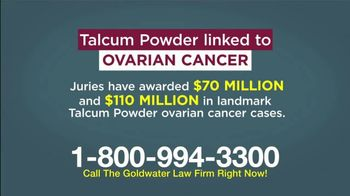 Goldwater Law Firm TV Spot, 'Talcum Powder and Ovarian Cancer' - Thumbnail 2