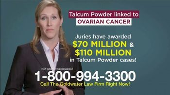 Goldwater Law Firm TV Spot, 'Talcum Powder and Ovarian Cancer' - Thumbnail 3