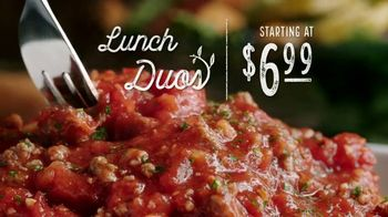 Olive Garden Lunch Duos TV Spot, 'Meatball Pizza Bowl'