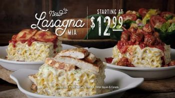 Olive Garden Lasagna Mia TV Spot, 'Create Your Own Lasagna' - Thumbnail 9