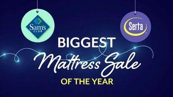 Sam's Club Biggest Mattress Sale of the Year TV Spot, 'Serta Comfortable'