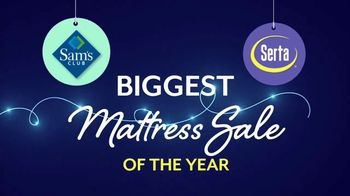 Sam's Club Biggest Mattress Sale of the Year TV Spot, 'Serta Comfortable'