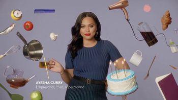CoverGirl Outlast All-Day Lipcolor TV Spot, 'Outlast se queda contigo' con Ayesha Curry [Spanish]