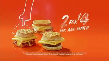 Hardee's Breakfast Sandwiches TV Spot, 'Made-From-Scratch Biscuits: I'm My Own Alarm Clock' - Thumbnail 6