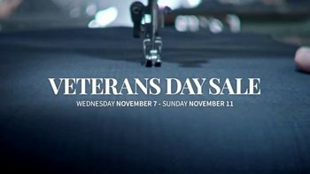 JoS. A. Bank Veterans Day Sale TV Spot, \'Executive Suits and Traveler Shirts\'