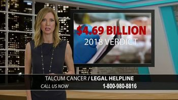 Holland Injury Law TV Spot, 'Talcum Cancer Legal Helpline'