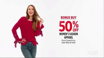 Belk Holiday Stock Up Sale TV Spot, 'Bonus Buys' - Thumbnail 4