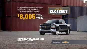 2017 Chevy Closeout TV Spot, 'Talk: Choice Without Compromise' [T2] - 305 commercial airings