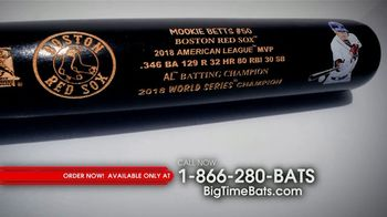 Big Time Bats Mookie Betts Limited Edition MVP Art Bat TV Spot, '2018 Most Valuable Player' - Thumbnail 2