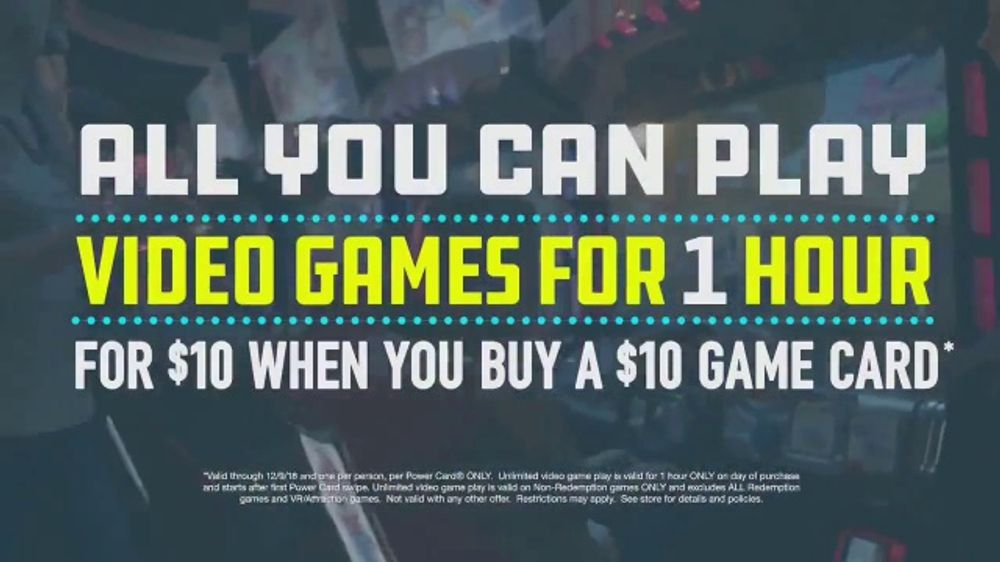 Dave and Buster's Power Hour TV Commercial, 'All-You-Can-Play Video Games'