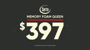 Mattress Firm TV Spot, 'Most Popular Sale: Serta Memory Foam Queen' - Thumbnail 6