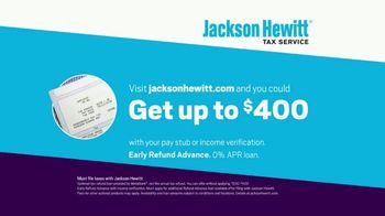 Jackson Hewitt Early Refund Advance TV Spot, 'Pay Stub' - Thumbnail 10