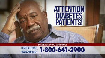 Ferrer, Poirot and Wansbrough TV Spot, 'Type 2 Diabetes Drugs'