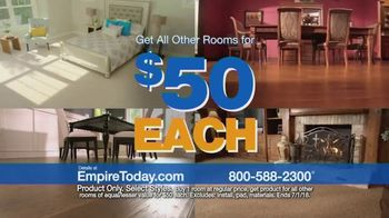 Empire Today $50 Room Sale TV Spot, 'No Limit'