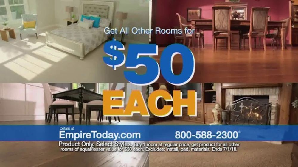 empire today 50 room sale tv commercial no limit ispot tv
